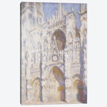 Rouen Cathedral, Afternoon  Canvas Print #BMN5163} by Claude Monet Canvas Art
