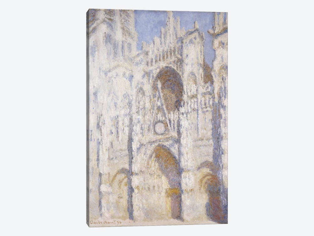 Rouen Cathedral, Afternoon  by Claude Monet 1-piece Art Print
