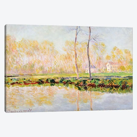 The Banks of the River Epte at Giverny, 1887  Canvas Print #BMN5164} by Claude Monet Art Print