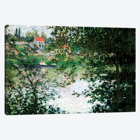 Ile de La Grande Jatte Through the Trees, 1878  Canvas Print #BMN5165} by Claude Monet Canvas Print