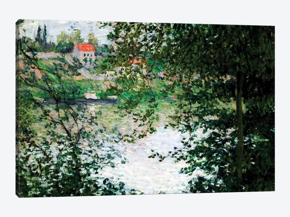 Ile de La Grande Jatte Through the Trees, 1878  by Claude Monet 1-piece Canvas Art Print