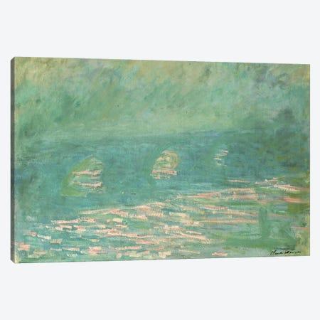 Waterloo Bridge  3-Piece Canvas #BMN5166} by Claude Monet Canvas Print