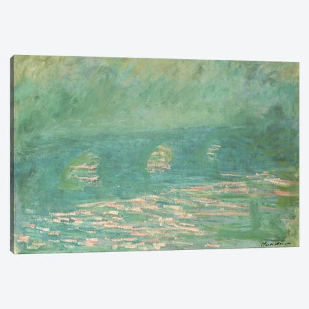 Waterloo Bridge  Canvas Print #BMN5166} by Claude Monet Canvas Print