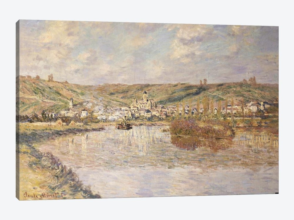End of the Afternoon, Vetheuil by Claude Monet 1-piece Canvas Print