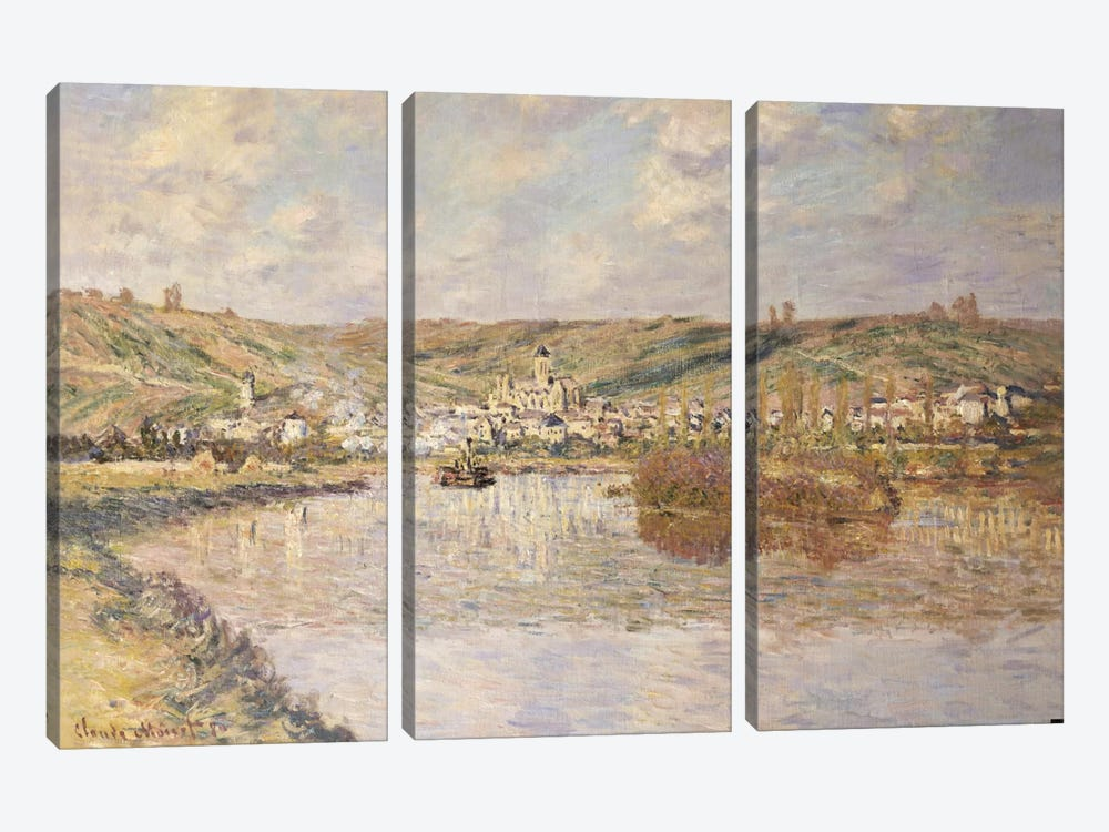 End of the Afternoon, Vetheuil by Claude Monet 3-piece Canvas Art Print