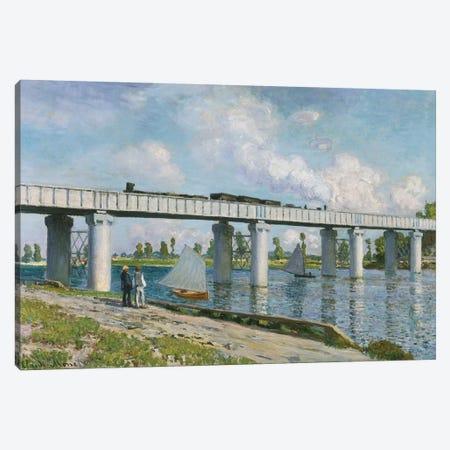 Railway Bridge at Argenteuil, 1873  Canvas Print #BMN5168} by Claude Monet Canvas Wall Art