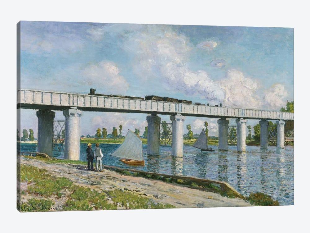 Railway Bridge at Argenteuil, 1873  by Claude Monet 1-piece Canvas Artwork