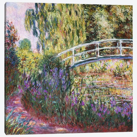 The Japanese Bridge, Pond with Water Lilies, 1900  Canvas Print #BMN5169} by Claude Monet Canvas Art