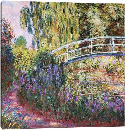 The Japanese Bridge, Pond with Water Lilies, 1900  Canvas Art Print
