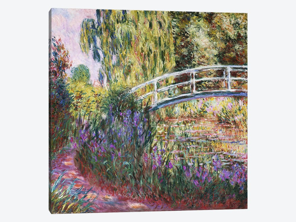 The Japanese Bridge, Pond with Water Lilies, 1900  by Claude Monet 1-piece Art Print