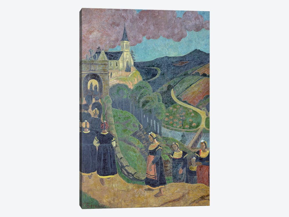 The Pardon of Notre-Dame-des-Portes at Chateauneuf-du-Faou, c.1894  by Paul Serusier 1-piece Canvas Wall Art