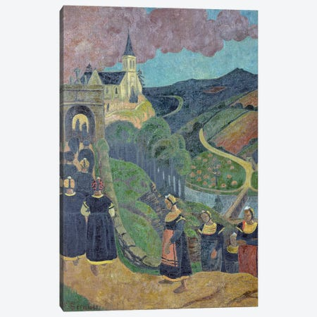 The Pardon of Notre-Dame-des-Portes at Chateauneuf-du-Faou, c.1894  Canvas Print #BMN516} by Paul Serusier Canvas Art Print