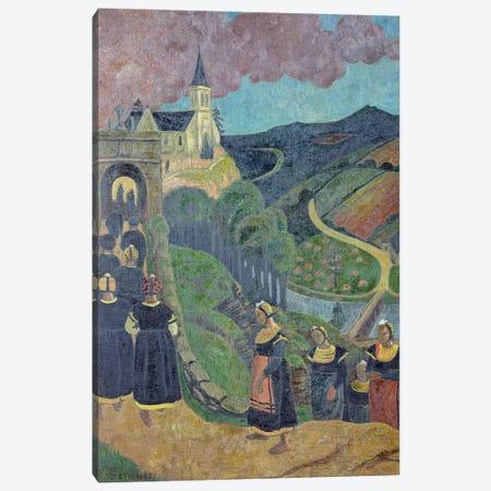 The Pardon of Notre-Dame-des-Portes at Chateauneuf-du-Faou, c.1894  Canvas Print #BMN516} by Paul Serusier Canvas Art Print