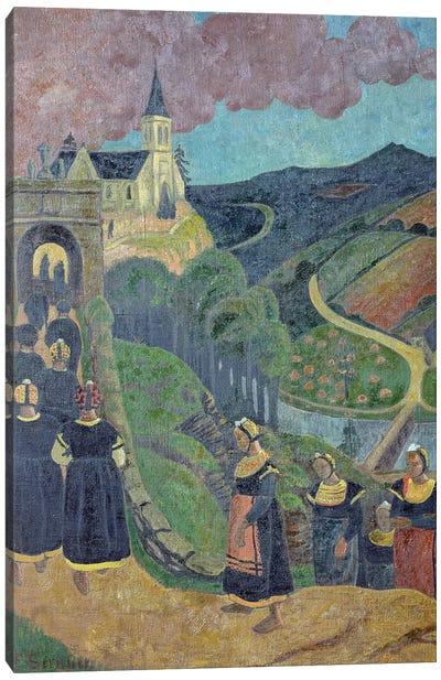 The Pardon of Notre-Dame-des-Portes at Chateauneuf-du-Faou, c.1894  Canvas Art Print