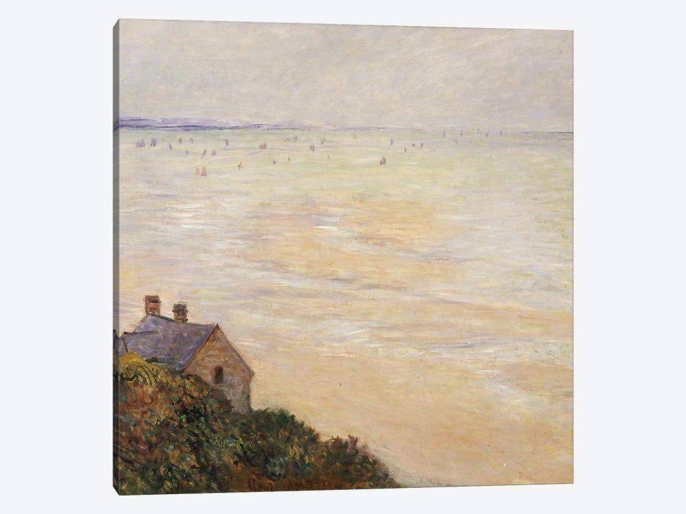 The Hut at Trouville, Low Tide, 1881  by Claude Monet 1-piece Canvas Art Print
