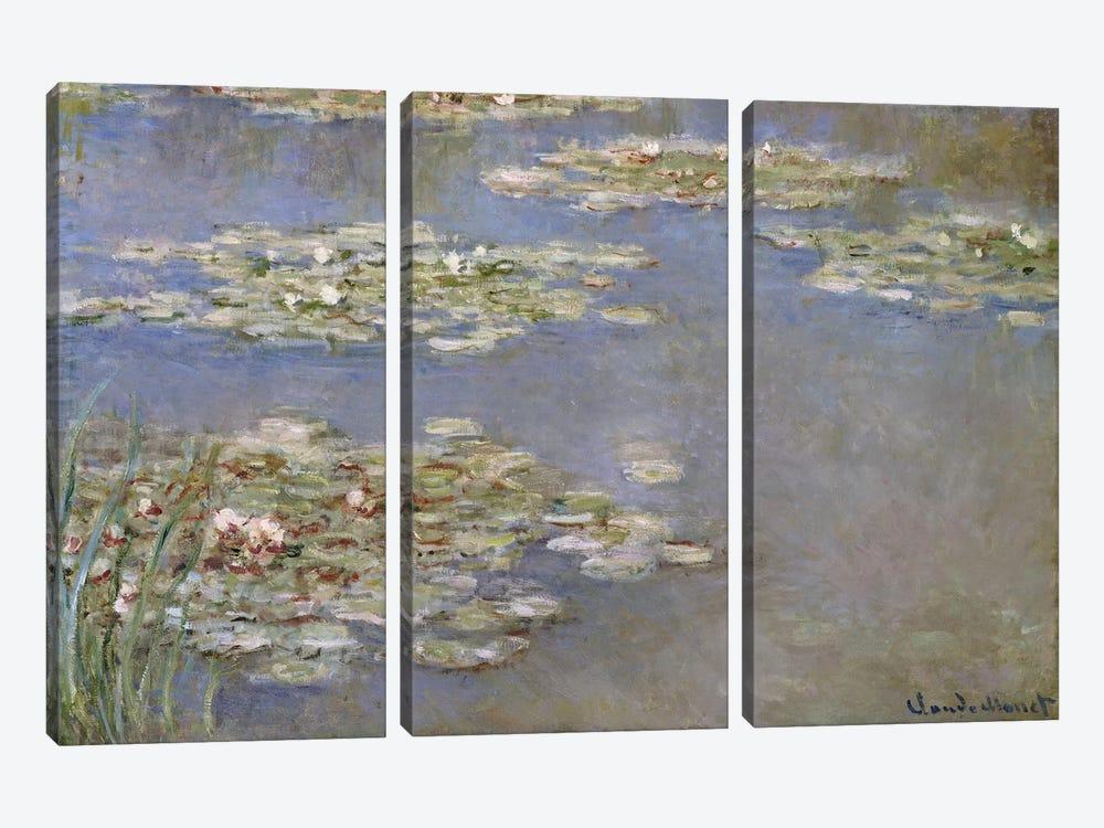 Nympheas, c.1905  by Claude Monet 3-piece Canvas Artwork