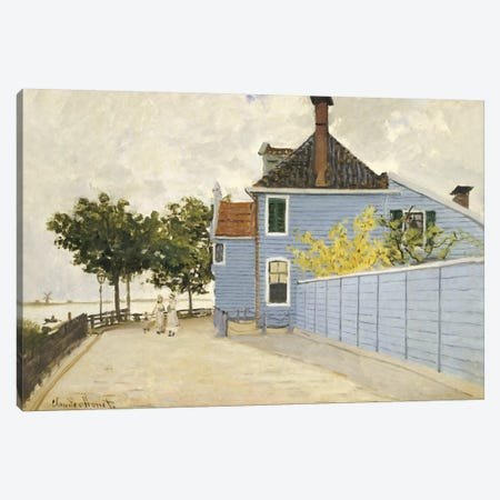 The Blue House, Zaandam  Canvas Print #BMN5173} by Claude Monet Canvas Art Print
