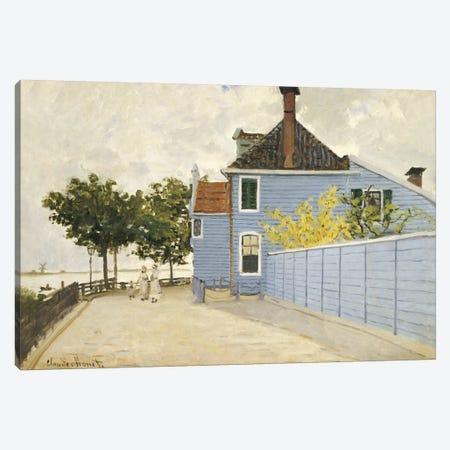 The Blue House, Zaandam  Canvas Print #BMN5173} by Claude Monet Canvas Art Print