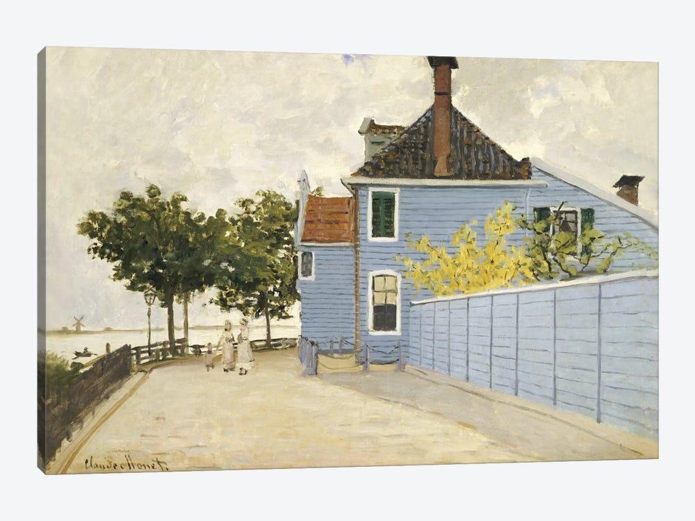 The Blue House, Zaandam  by Claude Monet 1-piece Canvas Art