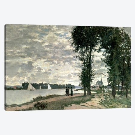 The Banks of the Seine at Argenteuil, 1872  Canvas Print #BMN5174} by Claude Monet Canvas Wall Art