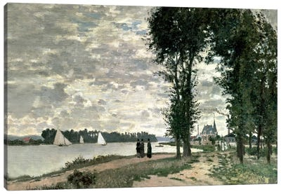 The Banks of the Seine at Argenteuil, 1872  Canvas Print #BMN5174