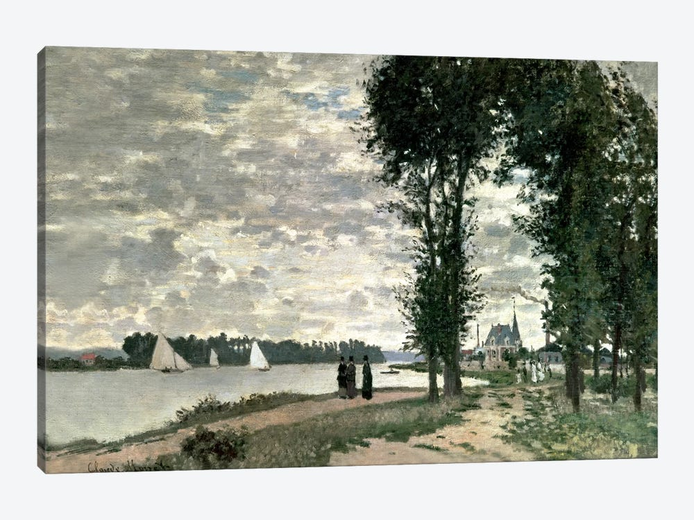 The Banks of the Seine at Argenteuil, 1872  by Claude Monet 1-piece Canvas Print