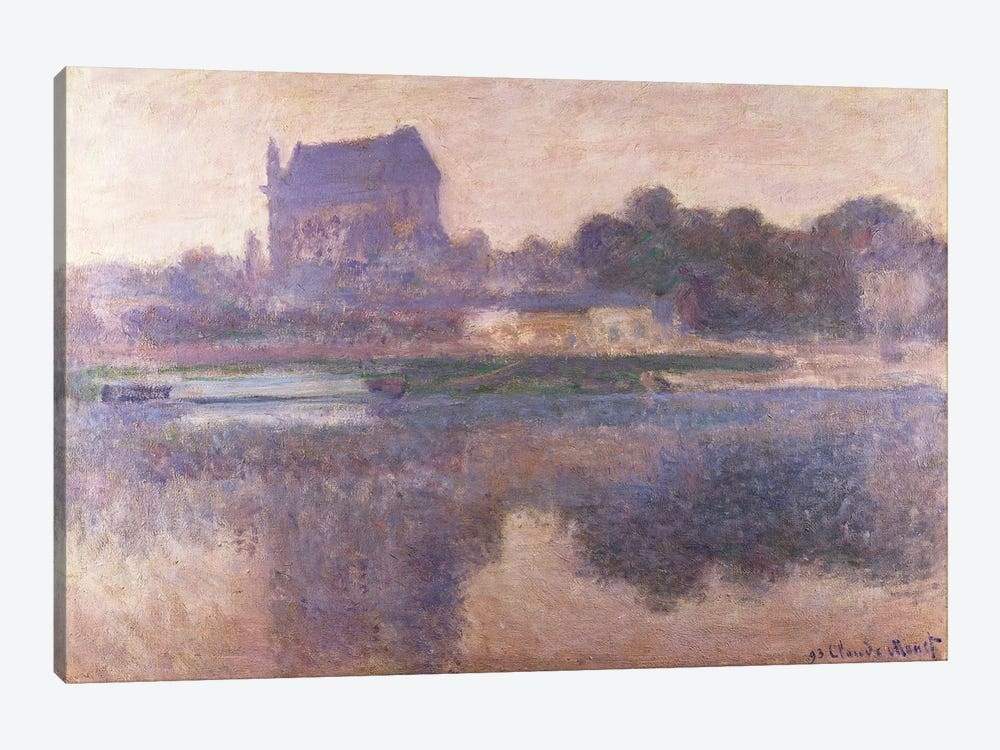 Vernon Church in Fog, 1893  by Claude Monet 1-piece Canvas Wall Art