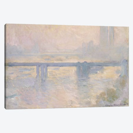 Charing Cross Bridge, 1899  Canvas Print #BMN5178} by Claude Monet Canvas Print