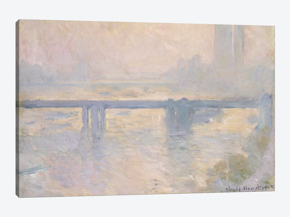 Charing Cross Bridge, 1899  by Claude Monet 1-piece Canvas Art Print