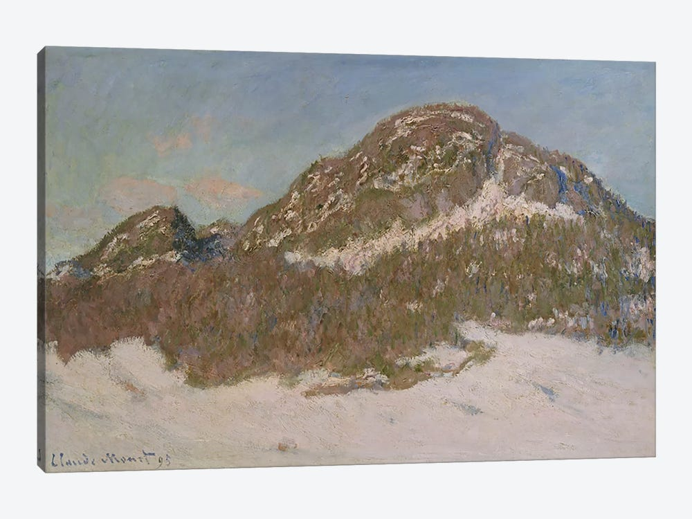Mount Kolsaas in Sunlight, 1895 by Claude Monet 1-piece Canvas Wall Art