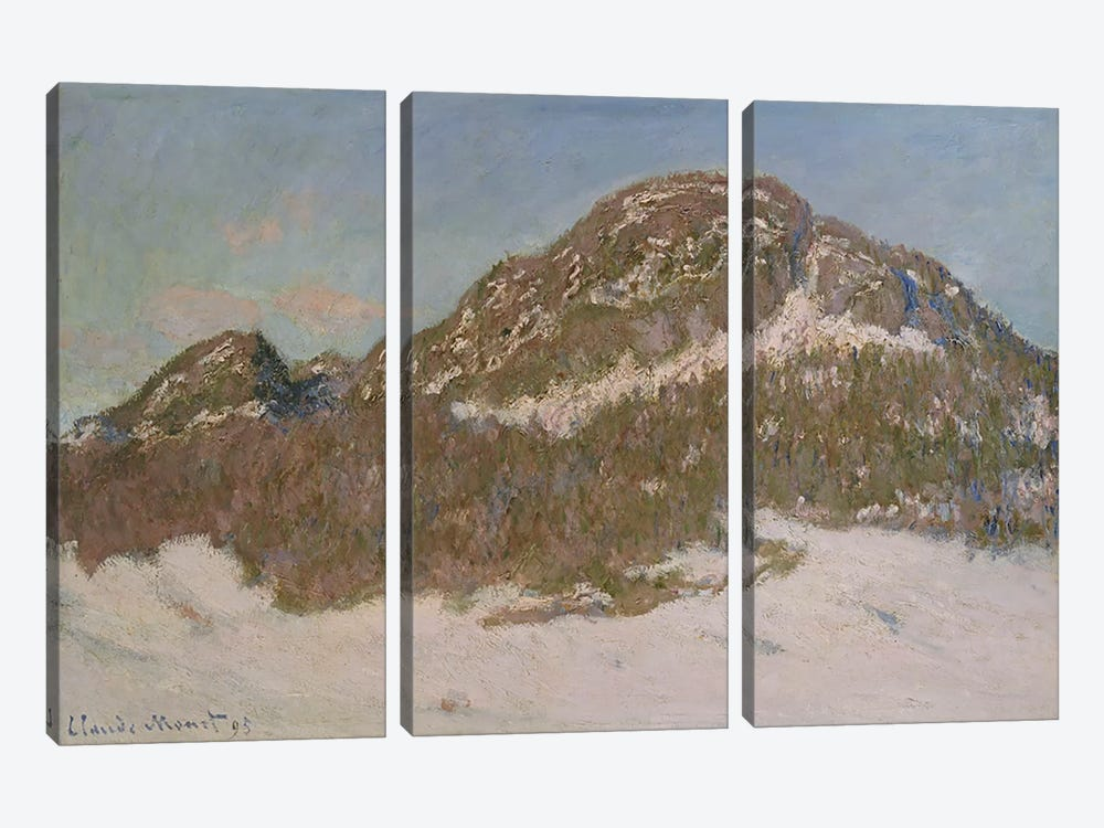 Mount Kolsaas in Sunlight, 1895 by Claude Monet 3-piece Canvas Art