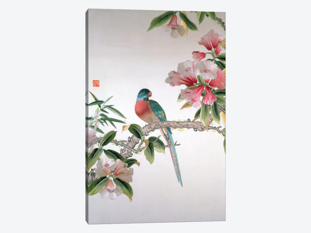 Jay on a flowering branch, Republic period  by Chinese School 1-piece Art Print