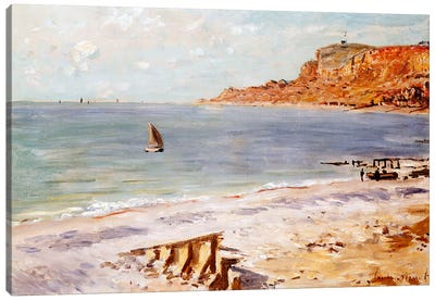 Seascape at Sainte-Adresse  Canvas Art Print