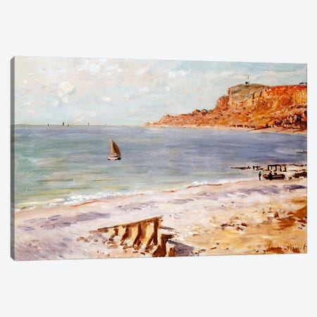 Seascape at Sainte-Adresse  Canvas Print #BMN5181} by Claude Monet Canvas Wall Art