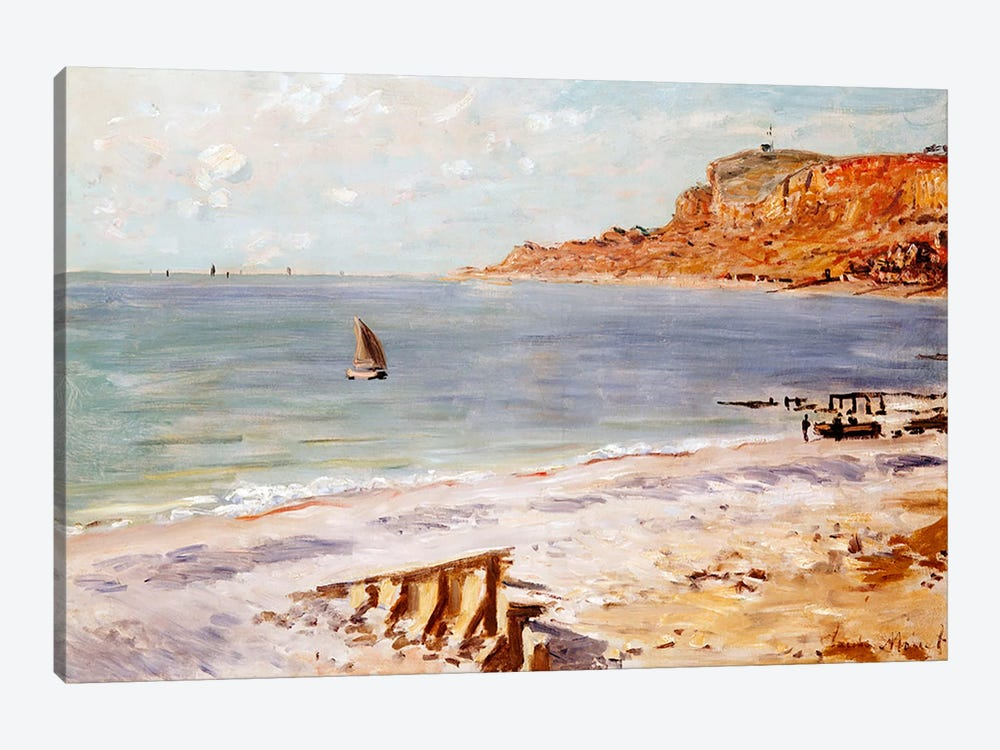 Seascape at Sainte-Adresse  by Claude Monet 1-piece Canvas Art Print