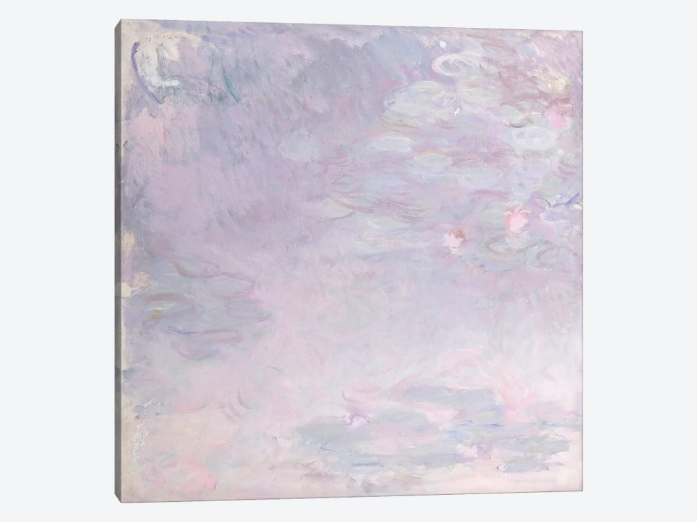 Pale Water Lilies, c.1917-25  by Claude Monet 1-piece Canvas Wall Art