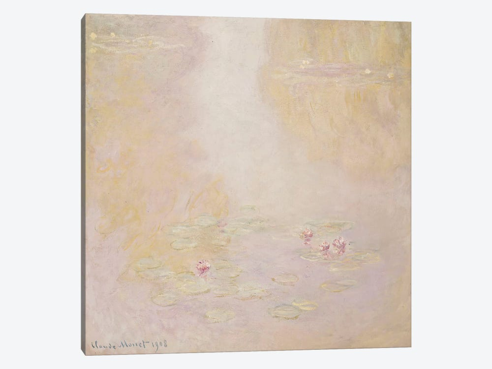 Water Lilies, Giverny, 1908  by Claude Monet 1-piece Canvas Print