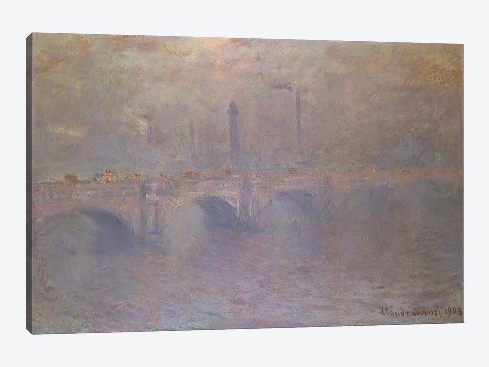 The Thames at London, Waterloo Bridge, 1903 by Claude Monet 1-piece Canvas Artwork