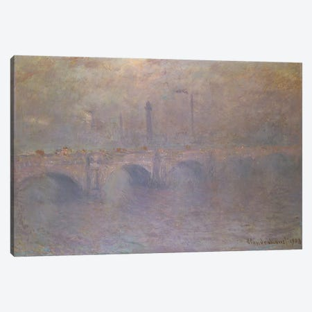 The Thames at London, Waterloo Bridge, 1903  Canvas Print #BMN5186} by Claude Monet Canvas Print