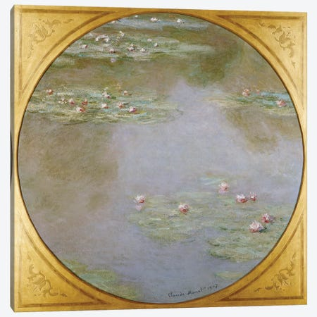 Water Lilies  Canvas Print #BMN5187} by Claude Monet Canvas Print