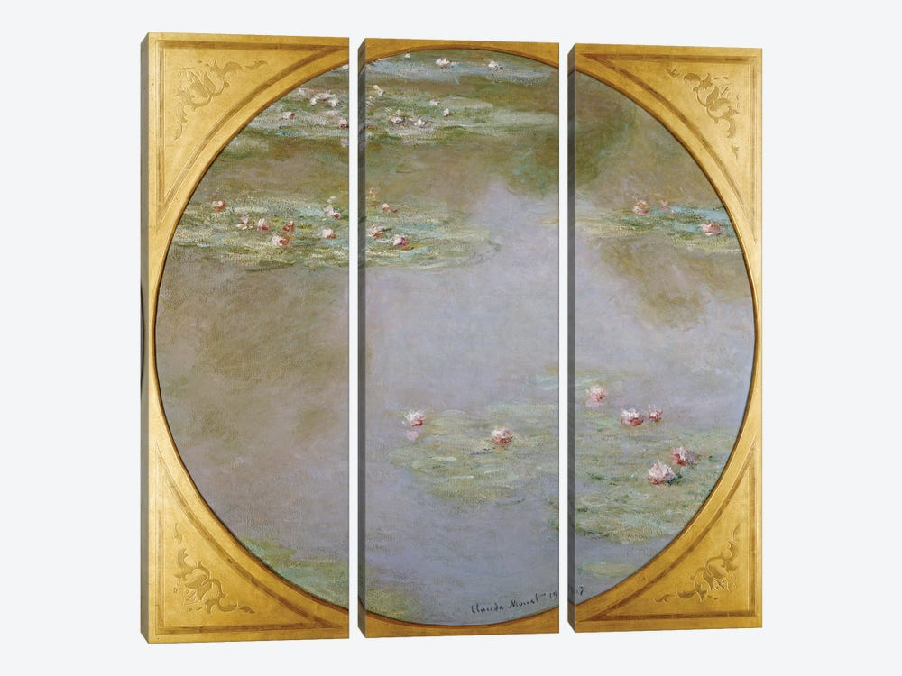 Water Lilies  by Claude Monet 3-piece Canvas Print