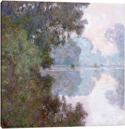 Morning on the Seine, near Giverny, 1896  Canvas Print #BMN5188