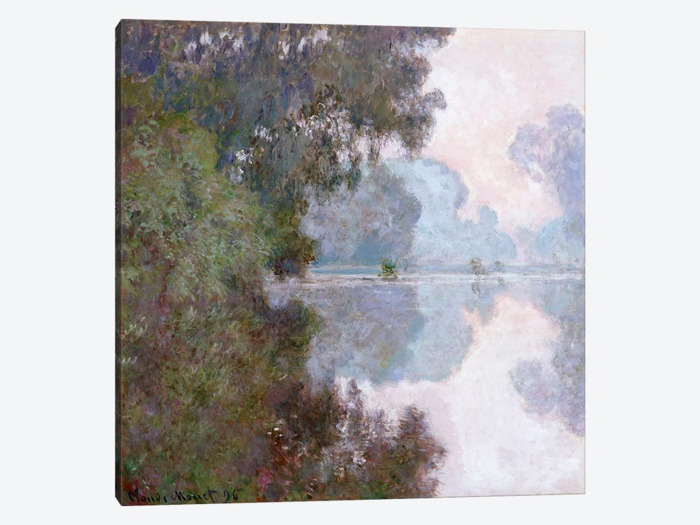 Morning on the Seine, near Giverny, 1896  by Claude Monet 1-piece Canvas Artwork