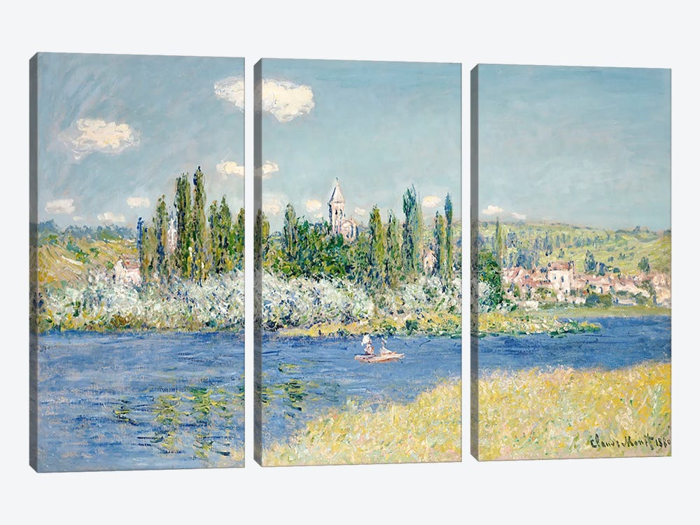 Vetheuil, 1880  by Claude Monet 3-piece Canvas Print
