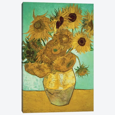Sunflowers (Third Version), 1888 Canvas Print #BMN518} by Vincent van Gogh Canvas Artwork