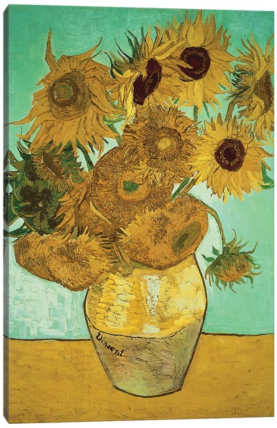 Sunflowers (Third Version), 1888 Canvas Art Print
