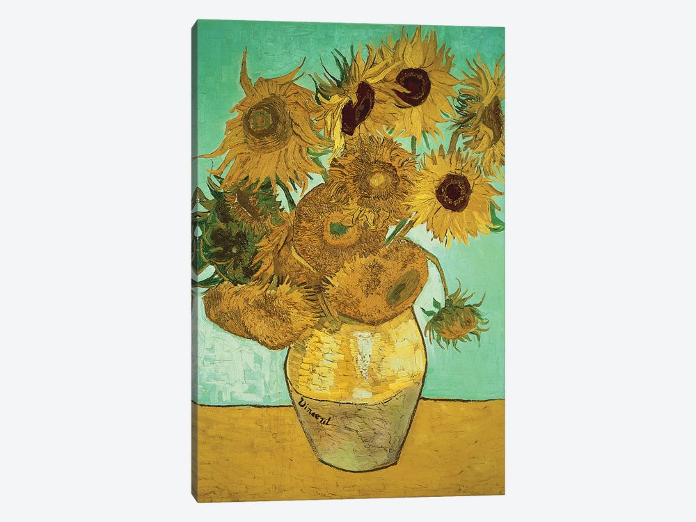 Sunflowers (Third Version), 1888 by Vincent van Gogh 1-piece Canvas Wall Art