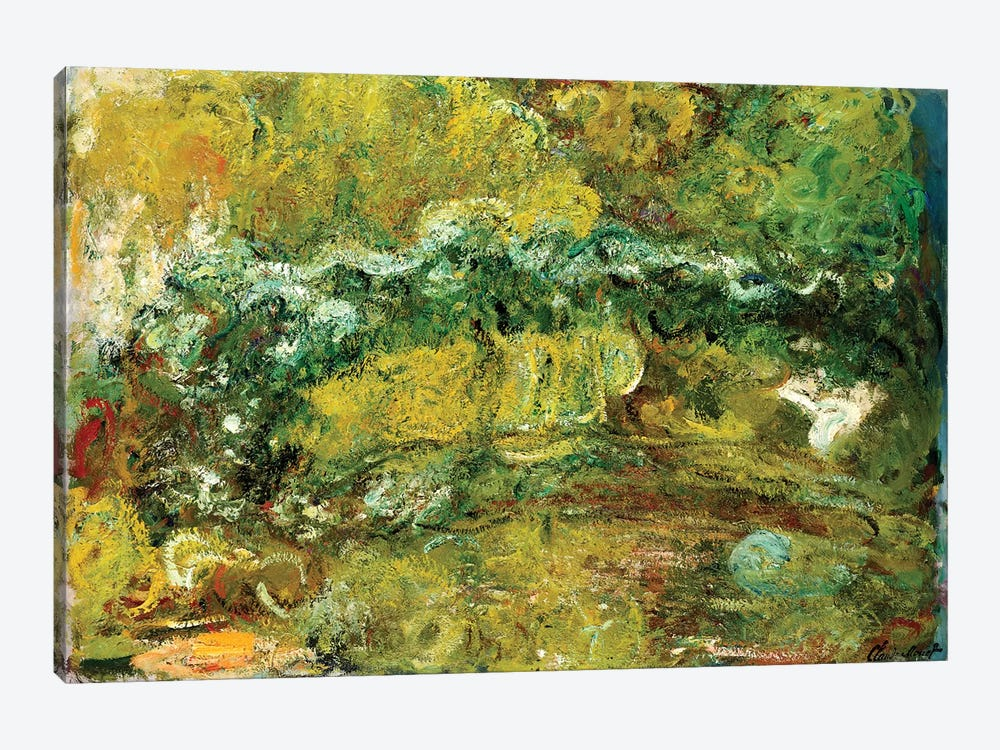 The Japanese Bridge, c.1918-24  by Claude Monet 1-piece Canvas Print