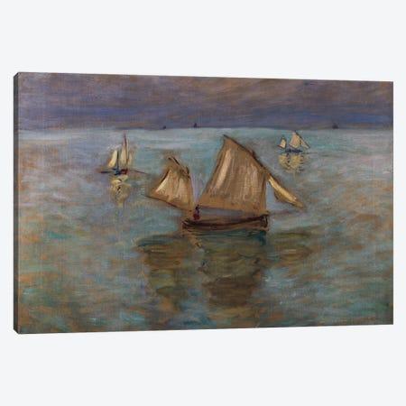Fishing Boats at Pourville, 1882  Canvas Print #BMN5191} by Claude Monet Art Print