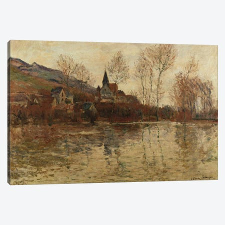 The Flood at Giverny, c.1886  Canvas Print #BMN5195} by Claude Monet Canvas Art